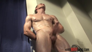 chiseled hunk Stefan Stewart jacks his big dick