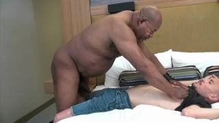 black daddy fucks the UPS driver