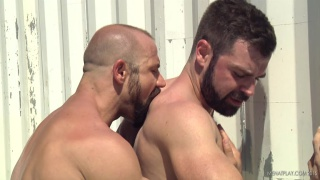 bearded men fucking outdoors