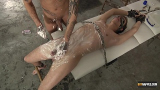 mickey taylor shaves a bound lad