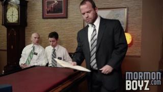 Elder Larsen gets fucked by President Woodruff