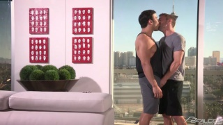 colt rivers and dorian ferro make out in sex pad