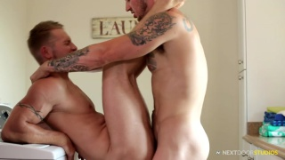 laundry room fuck with Mark Long and Jake Karhoff