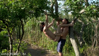 duncan black hangs from tree while getting fucked