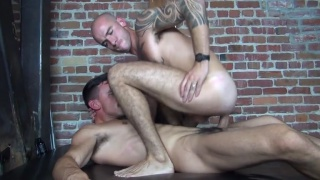 Cam Christou services Adam Avery's huge uncut cock