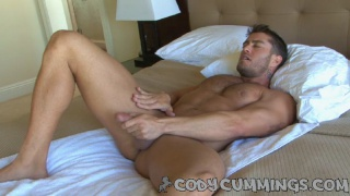 Cody Cummings strokes his cock