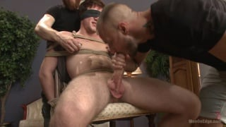 bound logan taylor gets edged by two guys