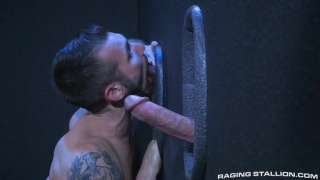 chris harder sucks glory hole dick