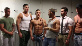 six hunks in campus jock week