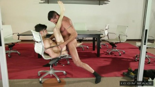 Nick Capra fucks Andy Banks in office chair