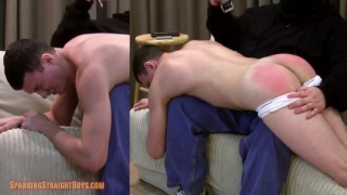 20-year-old straight boy gets spanked