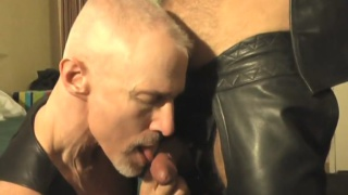 leather daddy tony deangelo gets blown
