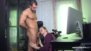 scruffy-faced hunk JP gets head