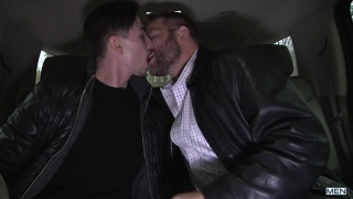 Colby Jansen fucks Jack Hunter in back seat of car