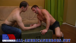 hot officer gets dominated by a hot enlisted guy