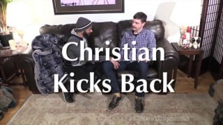 christian gets more than a blowjob