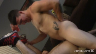 frat bro gauge gets his ass gang banged