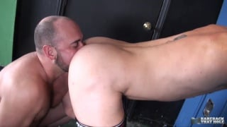 top daddy buries his face in bottom's fat ass