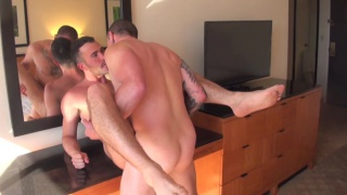 alex mason buries his face in max cameron's crotch