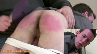 evan gets his butt paddled red