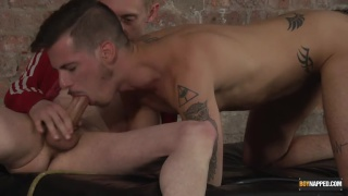 young master strips and restrains his slave boy