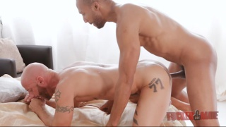 interracial fuck with Buster Sly and Aymeric Deville