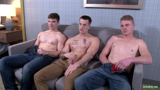 two studs break in a newcomer in threeway