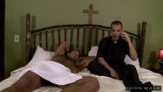 beefy hunk fucks his buddy the priest