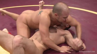 wrestling match where loser sucks the winner's cock