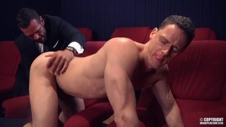 DENIS VEGA & IVAN GREGORY fuck each other in XXX cinema