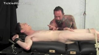 Clayton strapped down and tickled and edged