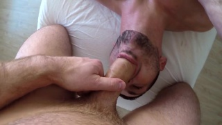 Straight stud goes gay during his erotic massage
