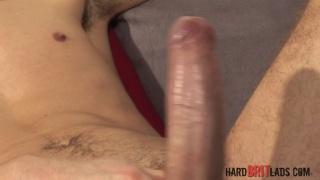 Kyle Martin strokes his 9-inch uncut cock