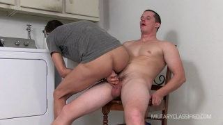 cocksucker rides straight stud's cock