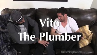 straight plumber gets a downlow blowjob