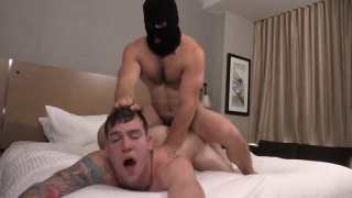 masked man aspen fucks handcuffed buck richards