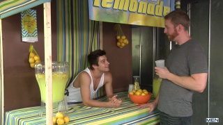 Johnny Rapid gets fucked by Jay Rising at the lemonade stand