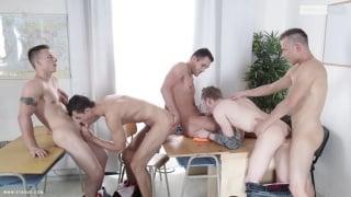 4 horny cops bang their prisoner