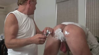 daddy dean loves shaving a guy's balls