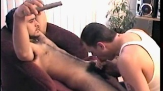 Franco unleashes a tasty cum load down Vinni's throat