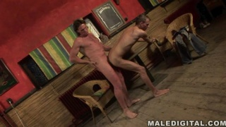 Twink playing with an older guy