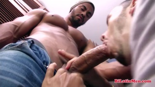 latin stud in jeans gets his dick sucked