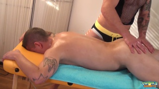 Paul Fresh gives an erotic massage and more to Roco North