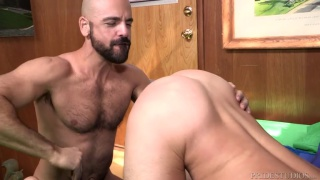 Chase Young gets fucked by bald daddy Adam Russo