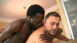 daddy gets his ass fucked by his black lover