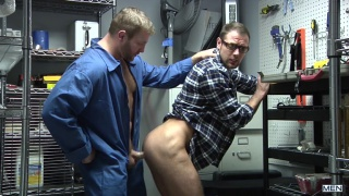 janitor Colby Jansen fucks teacher Brendan Phillips