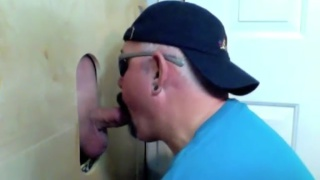 daddy sucks stranger's stiff meat at glory hole