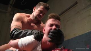Perverted Butcher torments his handsome captive