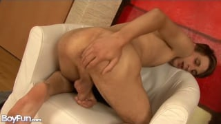 sweet lad jesse plays with his butt hole