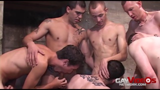 Kyle Brooks and Sage Daniels in gang bang